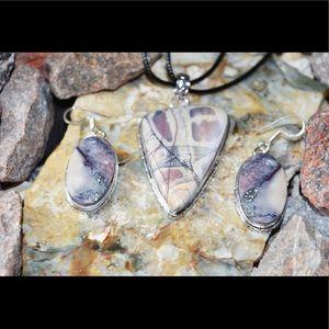 Porcelain Jasper Pendant & Earrings Set